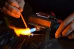 Flamme und Glaskunst